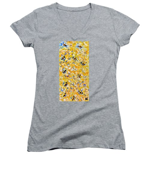 Ode To Bees.. Women's V-Neck T-Shirt