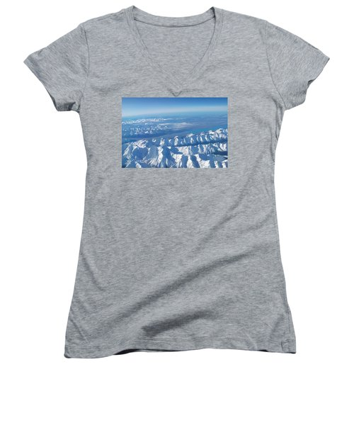 Of Peaks And Lakes Women's V-Neck (Athletic Fit)