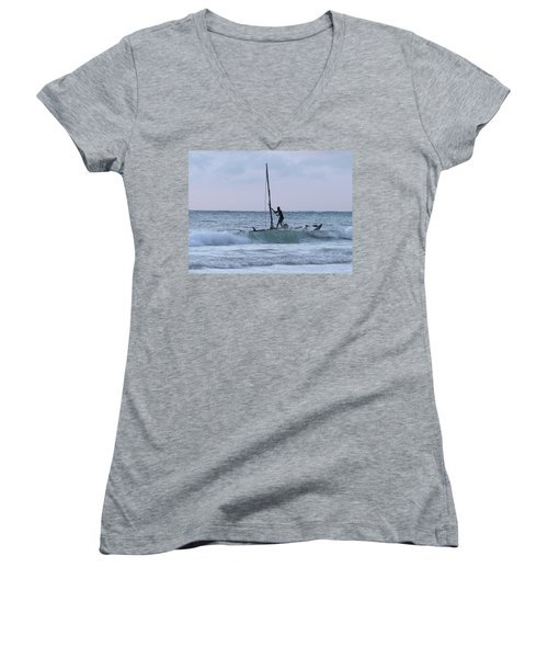 Off Fishing Women's V-Neck T-Shirt