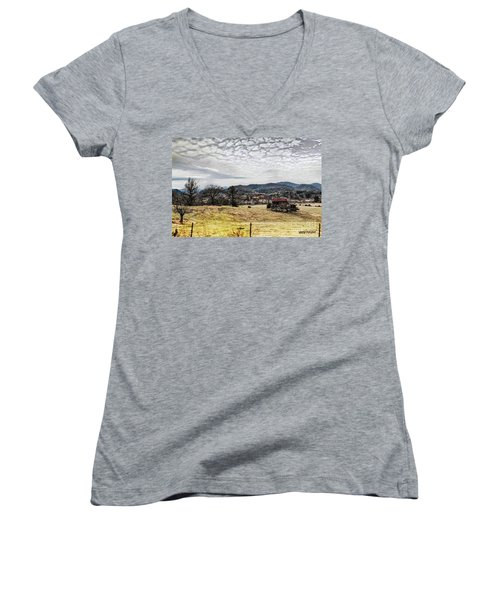 Off The Beaten Path II Women's V-Neck (Athletic Fit)