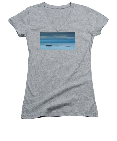 Women's V-Neck T-Shirt (Junior Cut) featuring the photograph Off The Iceland Coast by Joe Bonita