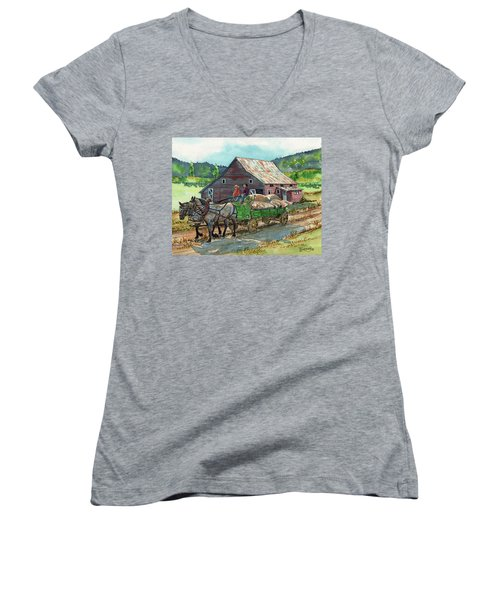 Off To Market Women's V-Neck (Athletic Fit)