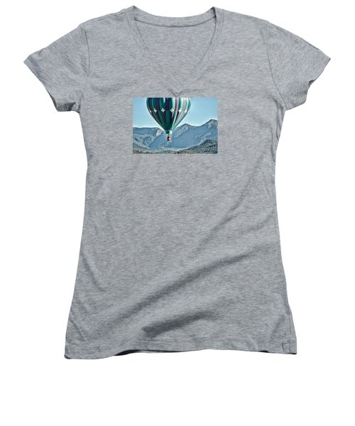 Women's V-Neck T-Shirt (Junior Cut) featuring the photograph Off To See The Wizard... by Kevin Munro
