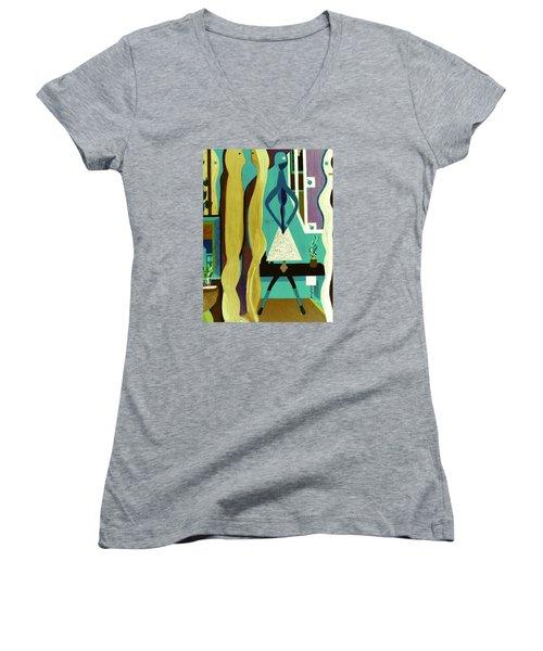 Office Party Women's V-Neck T-Shirt