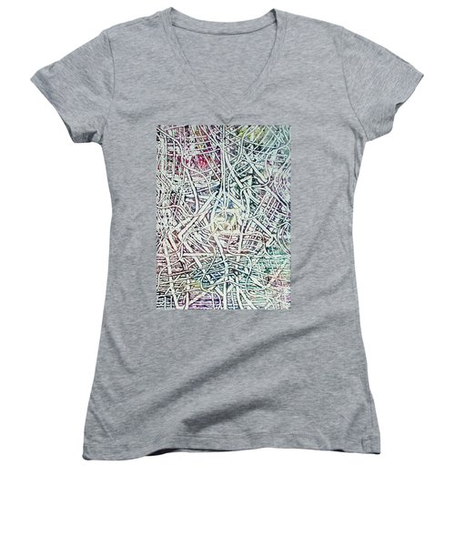 24-offspring While I Was On The Path To Perfection 24 Women's V-Neck (Athletic Fit)