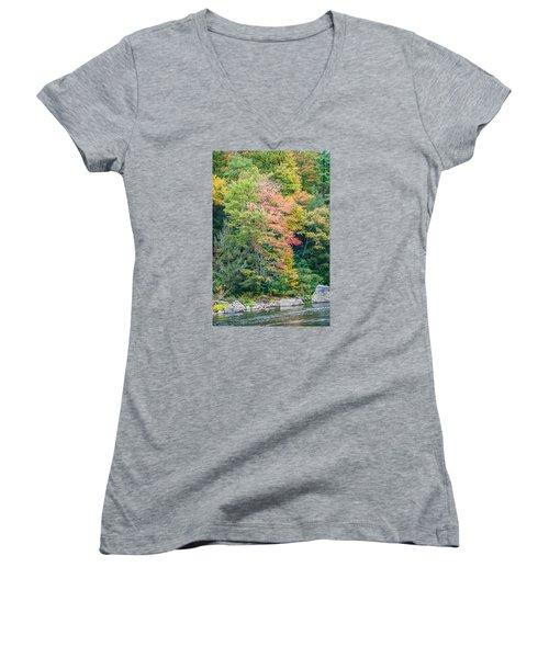 Ohio Pyle Colors - 9709 Women's V-Neck T-Shirt (Junior Cut) by G L Sarti