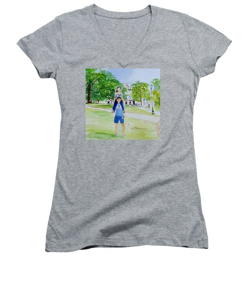 Ohio State Memories Women's V-Neck T-Shirt