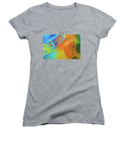 Oil And Water 10 Women's V-Neck T-Shirt (Junior Cut) by Jay Stockhaus