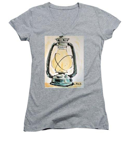 Oil Lamp Women's V-Neck