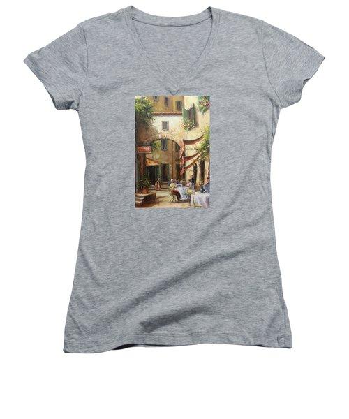 Oil Msc 050 Women's V-Neck T-Shirt (Junior Cut) by Mario Sergio Calzi