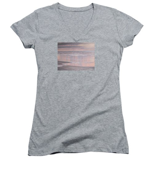 Oil On Canvas Women's V-Neck (Athletic Fit)