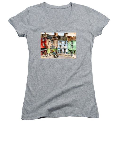 Ok Wheres The Party. Clifden, Galway. Women's V-Neck (Athletic Fit)