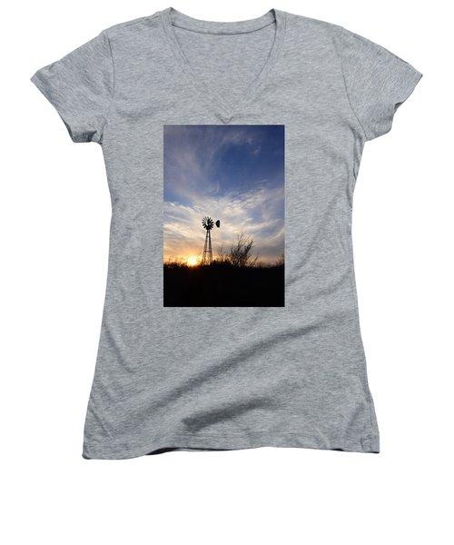 Oklahoma Skies Women's V-Neck T-Shirt