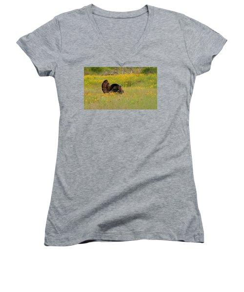Oklahoma Wildlife Women's V-Neck (Athletic Fit)