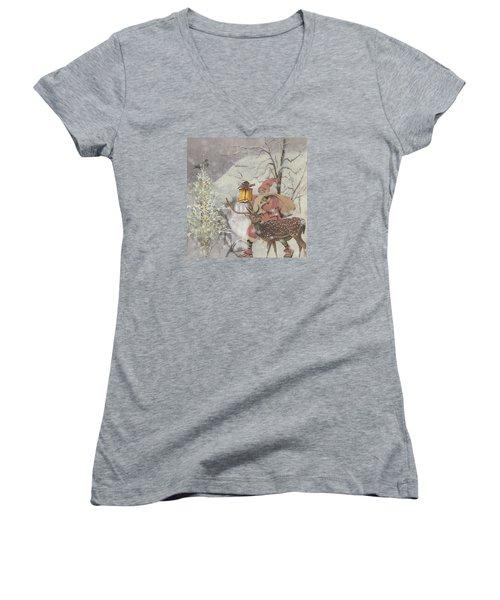 Ol' Saint Nick Women's V-Neck T-Shirt