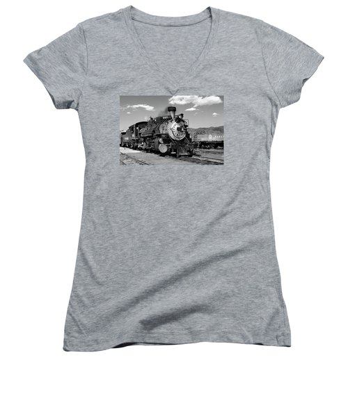 Women's V-Neck featuring the photograph Old 484 I by Ron Cline
