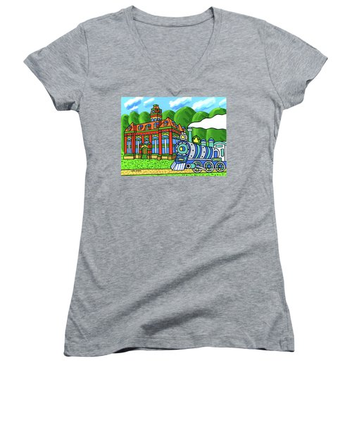 Old Alachua County Courthouse Women's V-Neck (Athletic Fit)