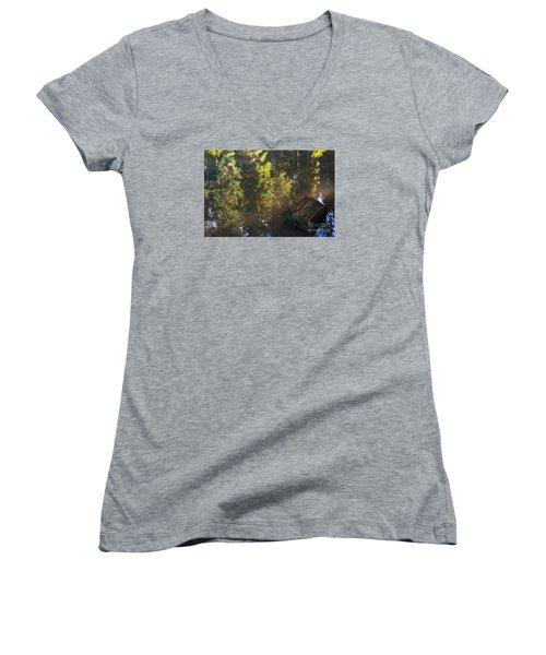 Old And New Life Women's V-Neck T-Shirt (Junior Cut) by Yuri Santin