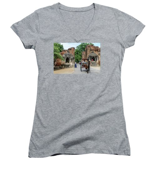 Old Bagan Women's V-Neck