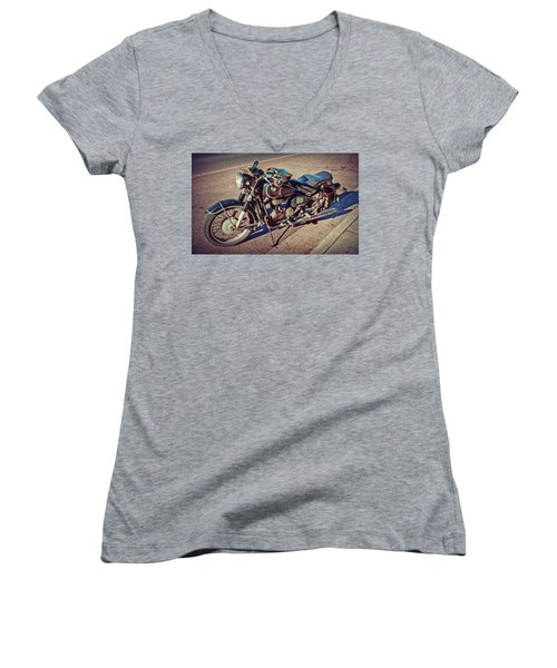 Old Beamer Motorcycle Women's V-Neck (Athletic Fit)