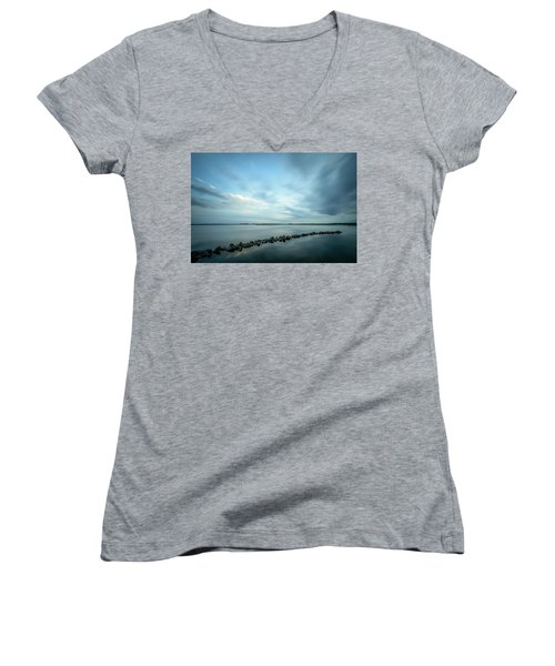 Old Blue Morning Women's V-Neck