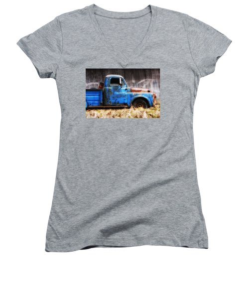Old Blue Truck Women's V-Neck