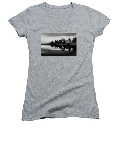 Women's V-Neck T-Shirt (Junior Cut) featuring the photograph Old Cape Cod by Bill Wakeley