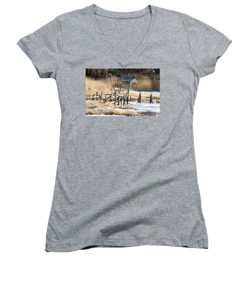 Old Dock And Boathouse  Women's V-Neck