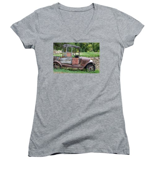 Old Faithful Women's V-Neck (Athletic Fit)