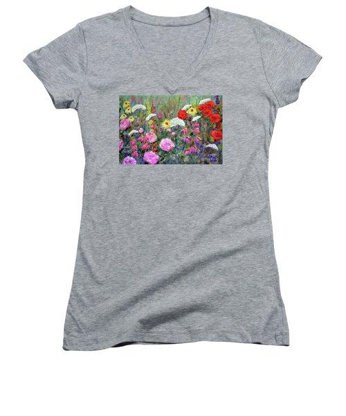Old Fashioned Garden Women's V-Neck