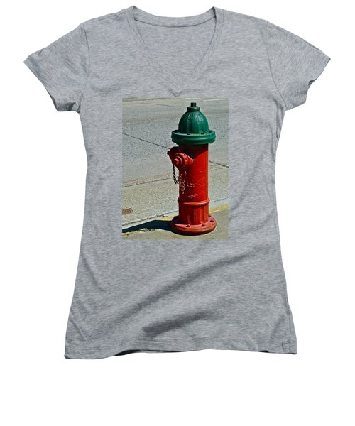 Old Fire Hydrant Women's V-Neck