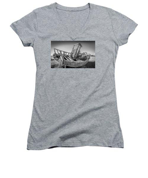 Old Fishing Boat. Women's V-Neck