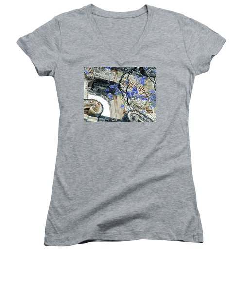 Old Growth Wisteria Women's V-Neck T-Shirt
