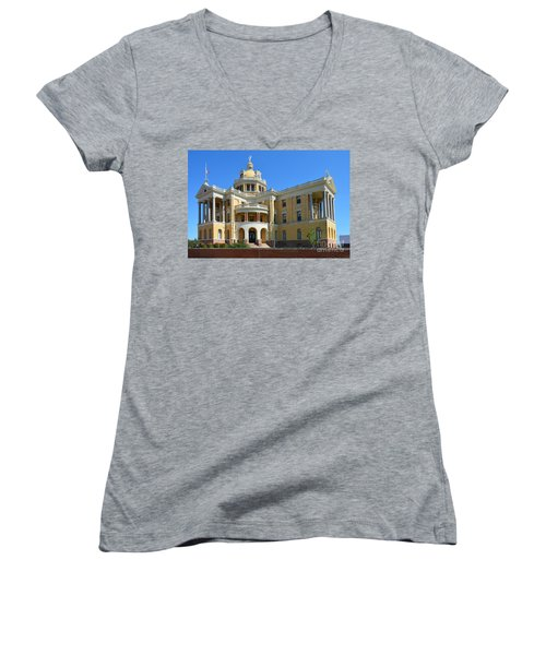 Old Harrison County Courthouse Women's V-Neck T-Shirt