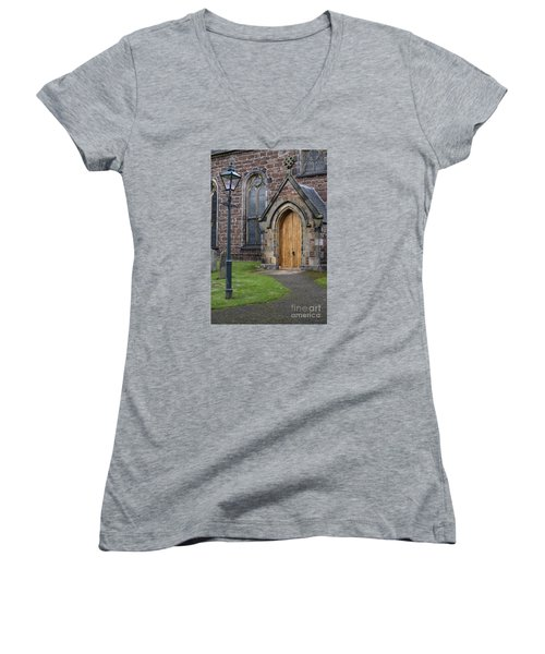 Old High Church - Inverness Women's V-Neck T-Shirt (Junior Cut) by Amy Fearn