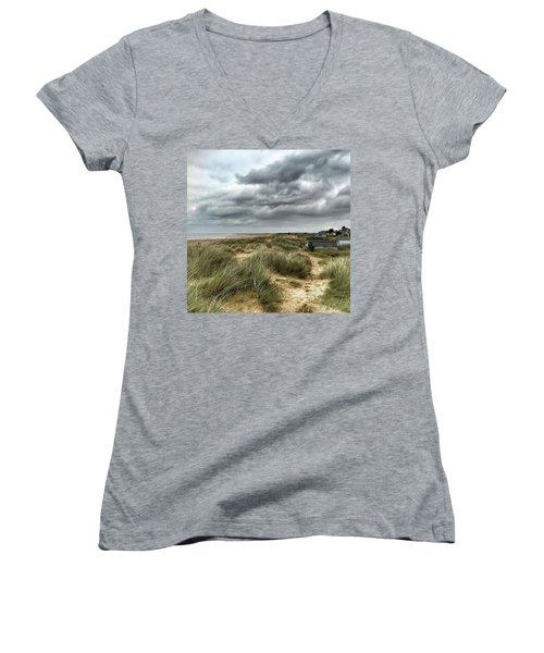 Old Hunstanton Beach, North #norfolk Women's V-Neck