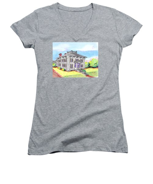 Old Hunt Hospital Women's V-Neck T-Shirt