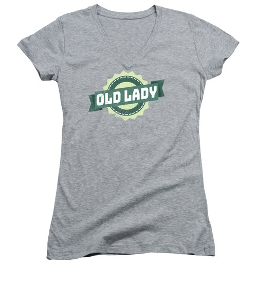 Old Lady Women's V-Neck (Athletic Fit)