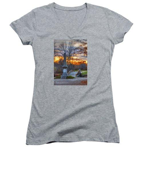 Old North Bridge - Concord Ma Women's V-Neck T-Shirt