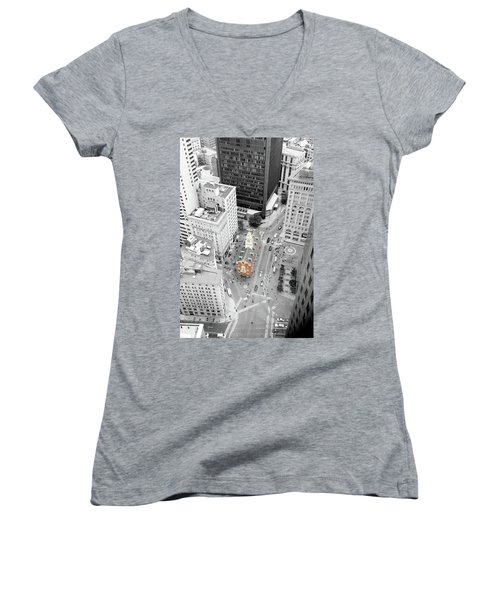 Old State House Women's V-Neck T-Shirt (Junior Cut) by Greg Fortier