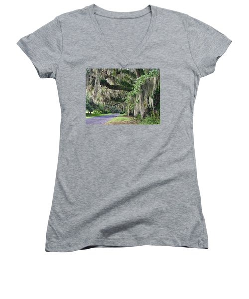 Old Plantation Road Women's V-Neck T-Shirt