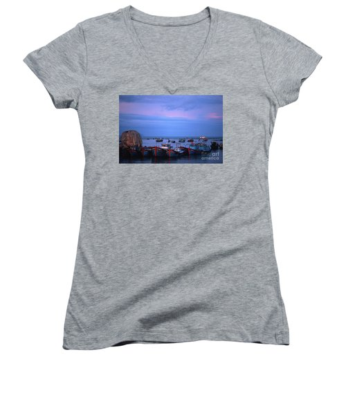 Old Port Of Nha Trang In Vietnam Women's V-Neck