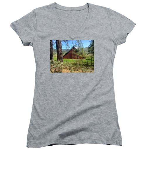 Old Red Barn Women's V-Neck (Athletic Fit)