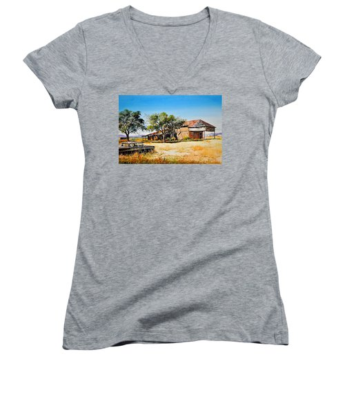 Old Route 66 Women's V-Neck (Athletic Fit)