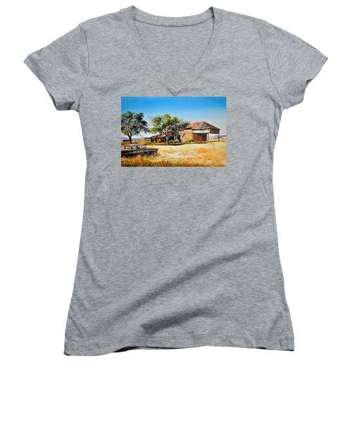 Old Route 66 Women's V-Neck T-Shirt