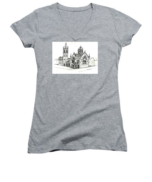 Old South Church - Bosotn Women's V-Neck T-Shirt