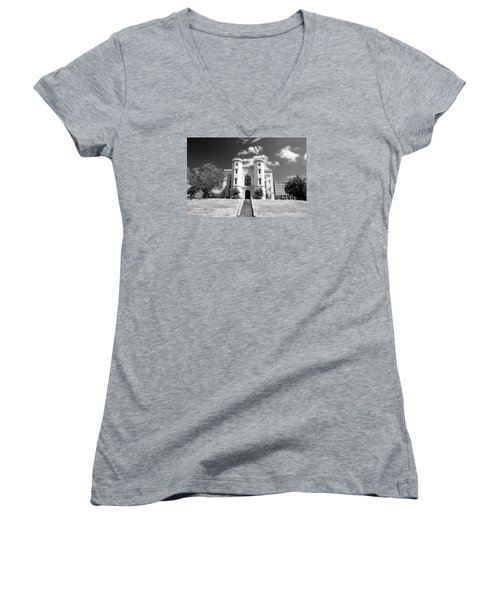Old State Capital Women's V-Neck T-Shirt (Junior Cut) by Scott Pellegrin