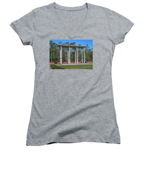 Old Student Union Arches Women's V-Neck T-Shirt