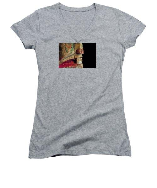 Old Totum Women's V-Neck T-Shirt (Junior Cut) by Lewis Mann
