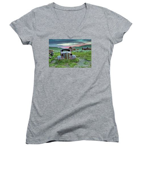 Old Truck In Bodie Women's V-Neck (Athletic Fit)